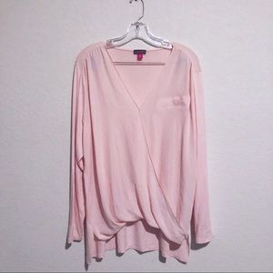 Vince Camuto Soft Pink Long Sleeve Blouse!